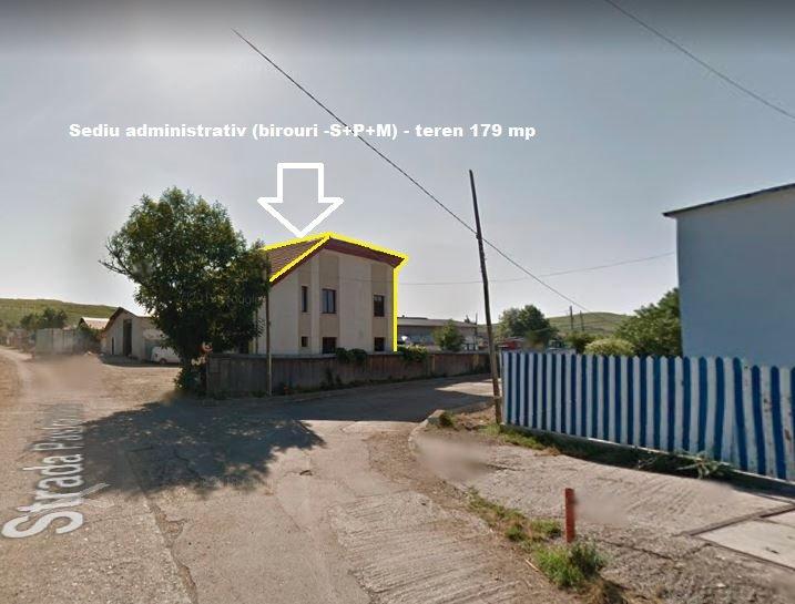 poza Sediu administrativ (birouri -S+P+M) -sup.construita 205 mp - teren 179 mp