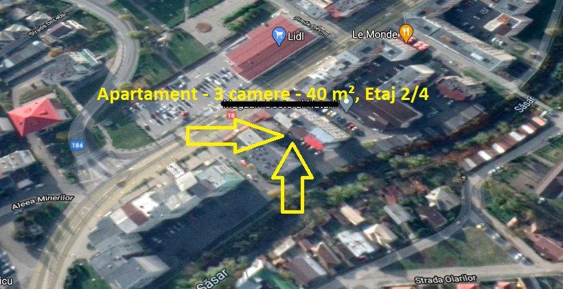 poza Zona Magazin LIDL - Apartament - 3 camere - 40 m², Etaj 2/4, Baia Sprie